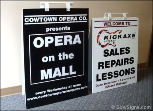Black White Sandwich Boards Made In Calgary