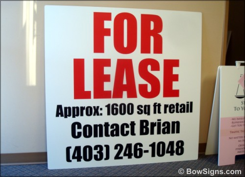 Board Signs For Real Estate in Calgary Alberta