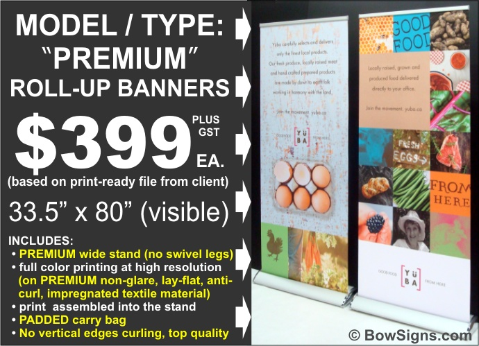 Calgary Premium Model Roll Up Retractable Banner Stand