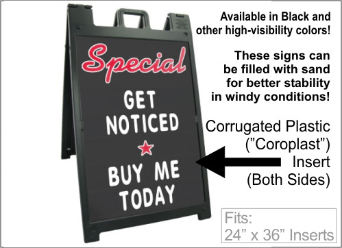 Buy Signicade Deluxe Changable Message Sandwich Sign Calgary