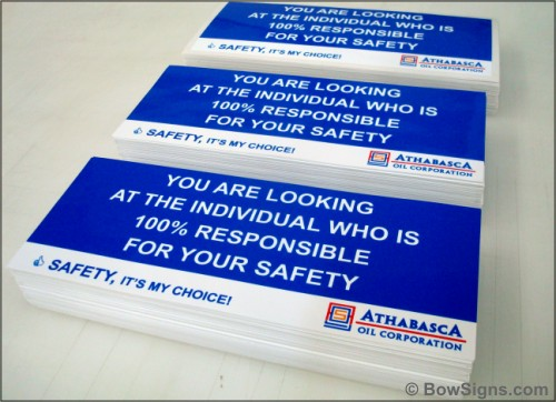 Workplace Safety Decals Calgary Alberta